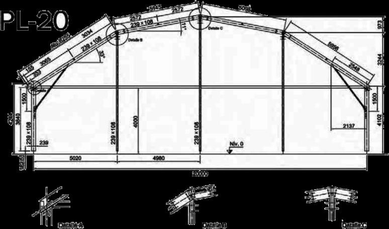 medida de carpa pl-20