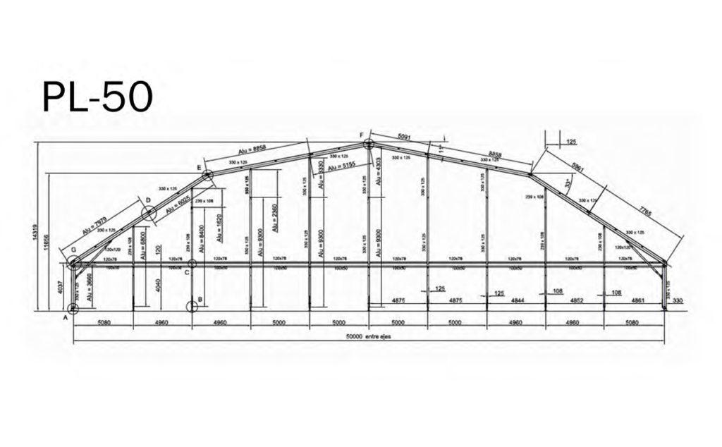 medida de carpa pl-50